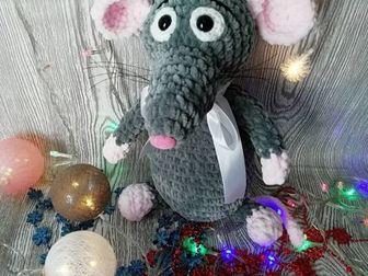 Плюшевый символ нового года ??30 см рост, гипоаллергенная пряжа, наполнитель холлофайбер ?? глазки на безопасном креплении ?? отличный подарок как ребёнку так и в Астрахани