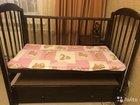 Детская кровать   матрас   наматрасник