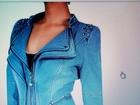 Уникальное изображение  Женский джинсовый пиджак, размер 50-52, новый, оригинальный необычный фасон, много интересных деталей, 69829307 в Бийске