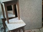 Стол новый с табуретками под мрамор из качественно