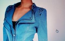 Женский джинсовый пиджак, размер 50-52