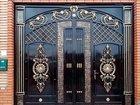 Ворота кованые гаражные (с дверями )