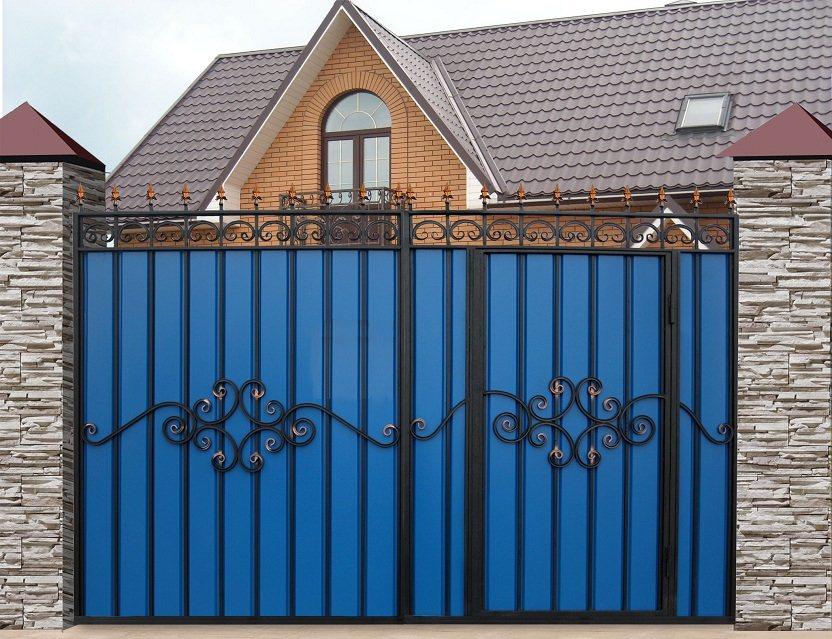 Забор с профиля своими руками