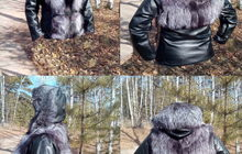 Модная Новая Кожаная куртка