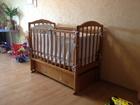 Фото в   Детская кроватка с матрасом, в отличном состоянии, в Екатеринбурге 7500
