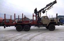 Сортимепнтовозный тягач Урал 2007г с новым манипулятором Атлант-90