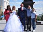 Фотография в Одежда и обувь, аксессуары Свадебные платья Карсет обшит блёстками, пышное, перчатки в Ельце 10000