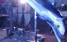 Металлическая скульптура Черноморский дельфин