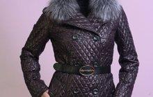 Зимнее пальто цвет шоколад