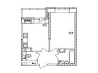 Продается 1-комн. кв-ра площадью 34,2 кв.м на 16 этаже 16 эт