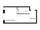 Продается студия площадью 27.5 кв.м, 12 этаж 17-этажного дом