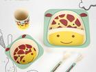 Посуда для детей из бамбукового волокна Жираф