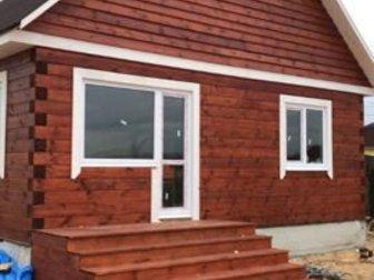 Продаю дом 100 кв, м, до Иркутска 5 км по асфальтированной дороге, за Мамонами,  Из строганного бруса 18?18, снаружи обработан пропиткой для защиты древисины от в Иркутске
