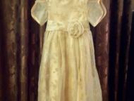 Платье на девочку Платье на девочку, длина 97см, талия завышена
