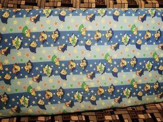 Матрас для детской кроватки 60х120 см,  двусторонний (с одной стороны жеще, с другой мягче) в отличном состоянии, Состояние: Б/у в Ижевске