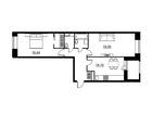 Продается 2-комн. кв-ра площадью 69,09 кв.м на 4 этаже 13 эт