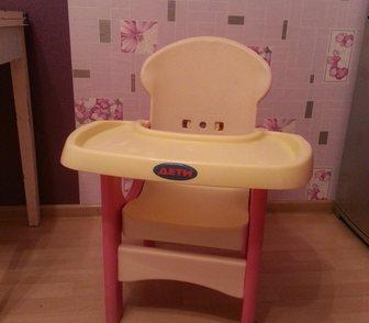 Изображение в Для детей Детская мебель Устойчивый и легкий стульчик для кормления в Электростали 1000