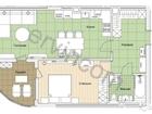 Предлагаем 1-комнатную квартиру 58,7 кв.м., расположенную на