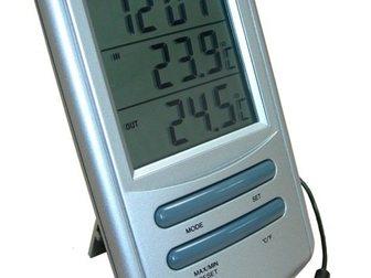 Уникальное фотографию Разное TM898T комнатно-уличный термометр с часами 32448386 в Казани