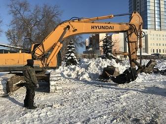 Уникальное фото  Сдаем в аренду Экскаватор гусеничный Hyundai 300LC-9S с клыком для разрушения зданий 3000 руб/час 42714714 в Казани