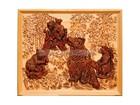Смотреть фото Антиквариат, предметы искусства Эко сувениры из кедропласта, Панно Медведи 36874633 в Кемерово