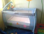 Кровать-манеж продам кровать-манеж с пеленальным столиком, матрас входит в компл