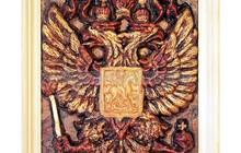 Эко сувениры из кедропласта, Панно Герб России
