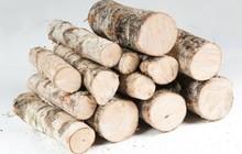 Дрова березовые чурбаками, колотые