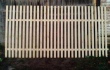 Забор, пролёт, секция из штакетника