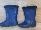 Уникальное фото Детская обувь продам резиновые сапоги Р-р 30, 4-5 лет с утеплителем, цвет синие 33875014 в Комсомольске-на-Амуре