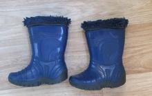 продам резиновые сапоги Р-р 30, 4-5 лет с утеплителем, цвет синие