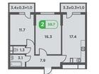 Уникальное foto Квартиры в новостройках Продам 2 ую квартиру в ЖК Трилогия 37311211 в Краснодаре