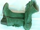 Фотография в Одежда и обувь, аксессуары Женская обувь Полусапожки женские, зеленые, новые.   Размер в Краснодаре 3000