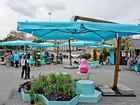 Новое foto Мебель для дачи и сада Зонт на боковой опоре 4 х 4 м, металлический 69212149 в Краснодаре