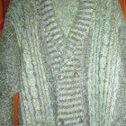 Пуловер мужской вязаный, натур, шерсть, р, 50-52