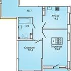 2х комнатная квартира в ЖК Губернский