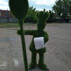 Топиари из искусственной травы Повар зеленого цвета