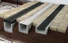 Лотки водоотводные бетонные DN100 с решеткой чугунной Кл, Е600