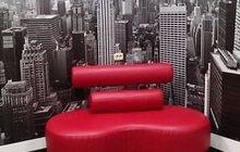 офисный диван красный