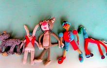 Детские игрушки, связанные из ниток