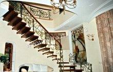 Лестница деревянная больцевая