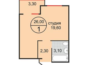 Новое фото Квартиры в новостройках Продается 2 к, квартира 50 м2 от застройщика за 1700 т, р, 33178615 в Краснодаре