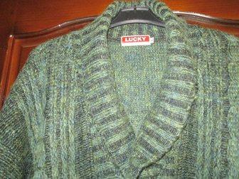 Новое изображение Мужская одежда Пуловер мужской вязаный, натур, шерсть, р, 50-52, Lucky Fashion Wear, Индия, 33811307 в Краснодаре