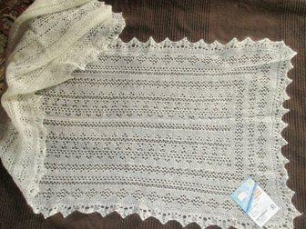 Увидеть foto Разное Оренбургский пуховый шарф белый, фабричный 33811361 в Краснодаре