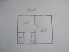 Смотреть фотографию Комнаты Малосемейка из двух комнат 24 кв, м, недорого 40391292 в Красноярске