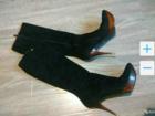 Скачать фото Женская обувь Замшевые сапоги осень/весна 68131808 в Красноярске