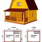 Дом 6*6 м, из строганного бруса 150*150 мм, На ленточном фундаменте