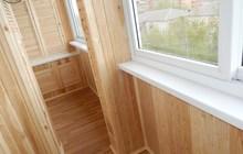 Утепление балкона, Обшивка вагонкой, панелями ПВХ