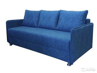 Диван 761,  Леонард,  Новый диван,  Диван на пружинном блоке и пенополиуретане,  Размер спального места 190*140см,  Толщина 1 подлокотника - 6 см, Общая длина 205см, в Красноярске