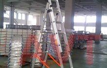 Лестницы алюминиевые и рабочие перчатки AVT